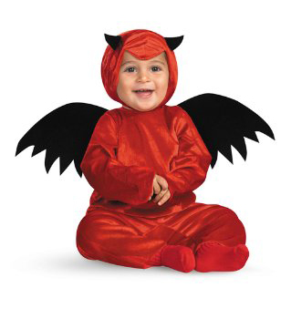 disfraz bebe demonio