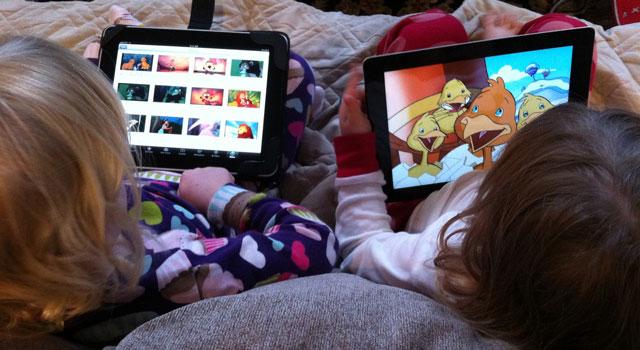 seleccionas los dibujos animados de tus hijos