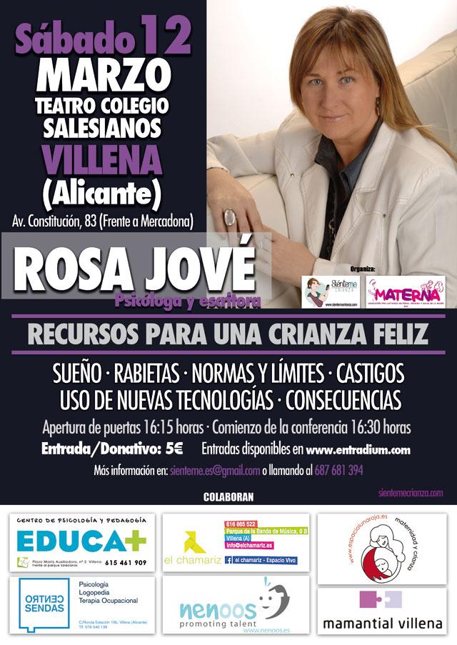 Cartel Rosa Jové en Villena Alicante 2016